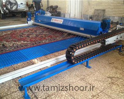 دستگاه قالیشویی تمام اتوماتیک ریلی
